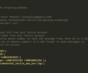 SMS Twilio Outgoing Gateway – Mesh Chat Action Script