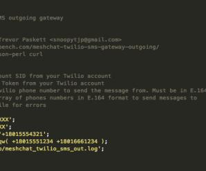 SMS Twilio Outgoing Gateway – Mesh Chat Action Script